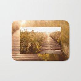 boardwalk and morass grass Bath Mat