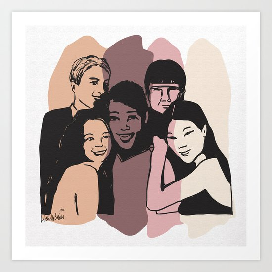Imagine all the people.. Art Print