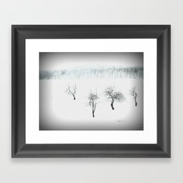Bare bones in Winter Framed Art Print