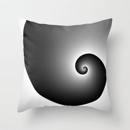 Swirly black Throw Pillow