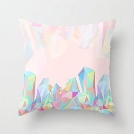 Crystallized III Throw Pillow