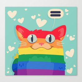 LGBT Cat Canvas Print