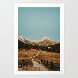 Mont Thabor/// Gran Séru Art Print