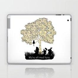 We're All Mad Here II - Alice In Wonderland Silhouette Art Laptop & iPad Skin