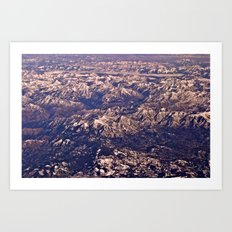 Airplane View Art Print