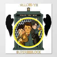superwholock Canvas Prints featuring Superwholock by littleartbot