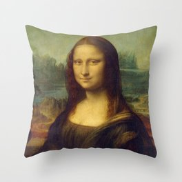Classic Art - Mona Lisa - Leonardo da Vinci Throw Pillow