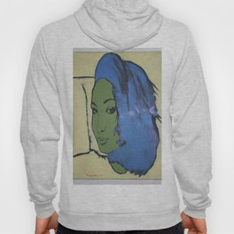 Dariusz Stolarzyn Women With Green Face oil painting Hoody