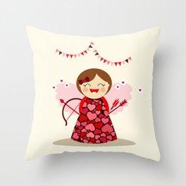 Petite Cupidon Throw Pillow