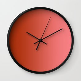 Red to Pastel Red Vertical Linear Gradient Wall Clock