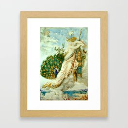 """Gustave Moreau """"The Peacock Complaining to Juno"""" Framed Art Print"""
