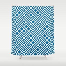 10 Print: Bold Blue Shower Curtain