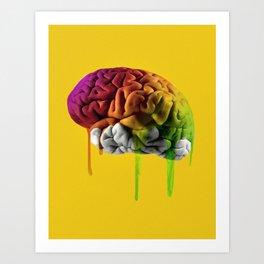 Psychedelic Brain Art Print