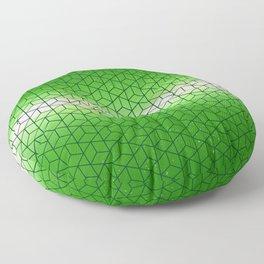 Green Geometric sky pattern Floor Pillow