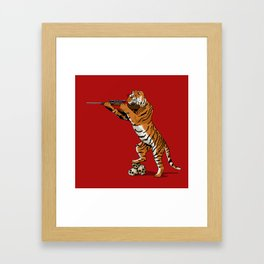 The Hunted becomes the Hunter Framed Art Print