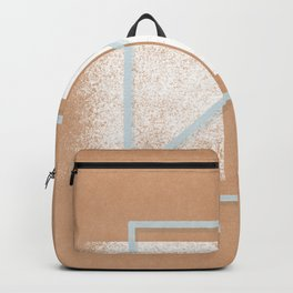 boho arch with monotone minimal constelation space Backpack