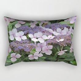 Hydrangea Violet Hues Rectangular Pillow