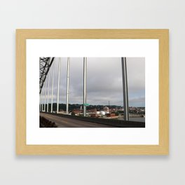 Dubuque From The Bridge Framed Art Print