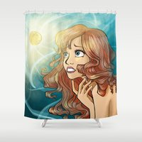 inspiration Shower Curtains featuring Inspiration by Yaminogame
