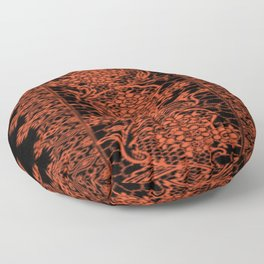 Flame Lace Floor Pillow