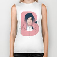 bjork Biker Tanks featuring B of Bjork by David Alegria