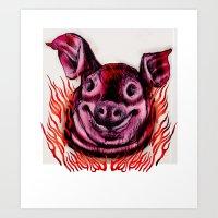 BBQ Art Print