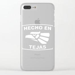 Hecho en Tejas Clear iPhone Case