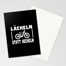 Bicycle Saying Funny Smile Instead Of Panting Stationery Cards