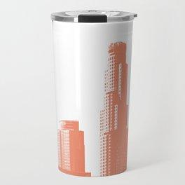 Orange Los Angeles skyline Travel Mug