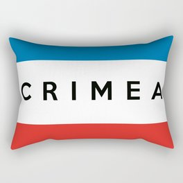 crimea country flag name text Rectangular Pillow