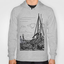 Boats on the Sea . Home Decor Graphicdesign Hoody