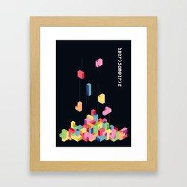 Tetrisometric Framed Art Print