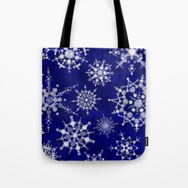 Snowflakes Floating through the Sky Tote Bag