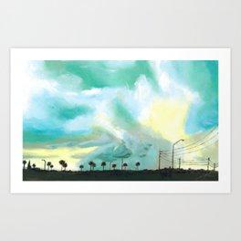 Tampa Inspired Blue Sky Art Print
