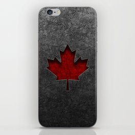 Canadian Flag Stone Texture iPhone Skin