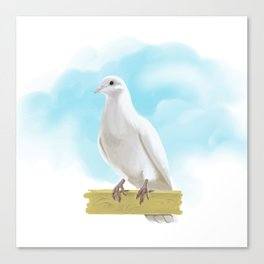 Hand Painting Dove Canvas Print
