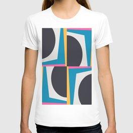 Modern Geometric 65 Blue T-shirt