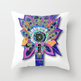 Shaman Glow Throw Pillow