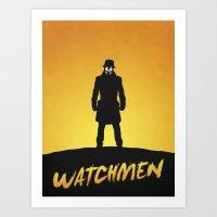 watchmen Art Prints featuring Watchmen by Nick Kemp
