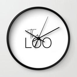 The Loo Wall Clock