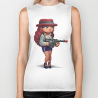 redhead Biker Tanks featuring Redhead mobster by Andrei Nicolae