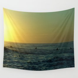 Waiting for a Wave Wall Tapestry