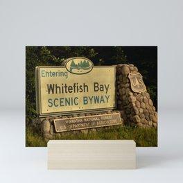 Whitefish Bay Scenic Byway Mini Art Print