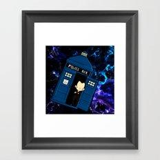 Tardis in space Doctor Who 9 Framed Art Print