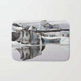 Ashy Glaciers. Bath Mat