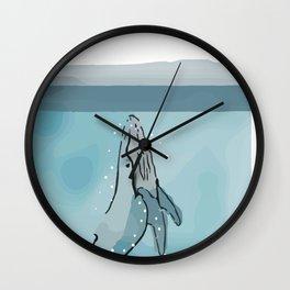 A Whale's Tale Wall Clock
