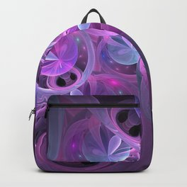 Luminous Abstract Fractal Art Pink And Blue Backpack