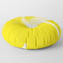 Freesia Yellow Dandelion Floor Pillow