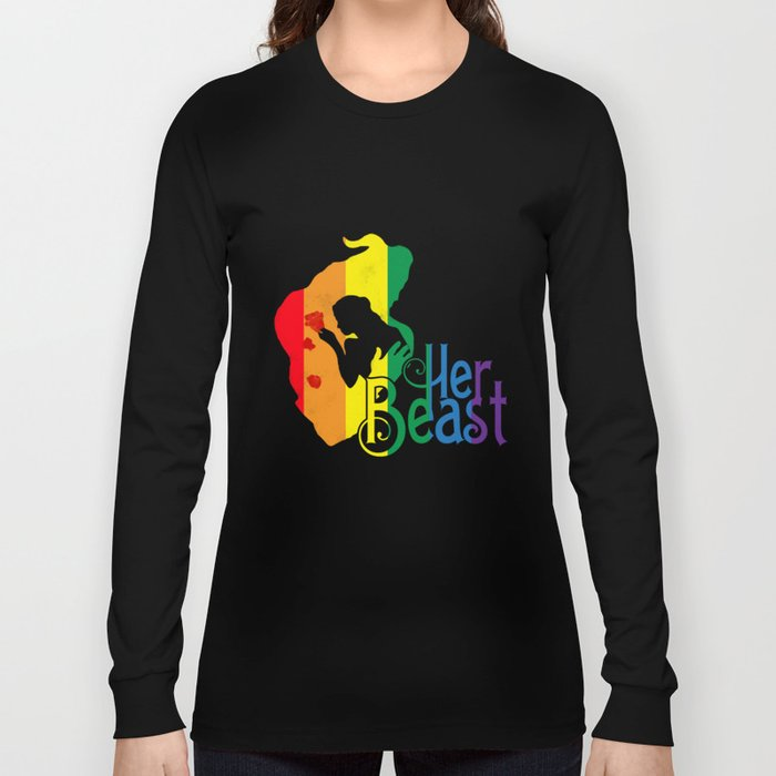 f00fc773dc LGBT T-Shirt Funny Her Beast Lesbian Gay Pride Gift Apparel Long Sleeve T- shirt