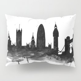 London, black and white Pillow Sham